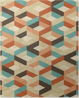 Poster Seamless retro geometrischen Muster