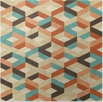 Poster Seamless retro pattern geometrico.