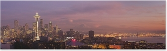 Poster Seattle Skyline der Stadt