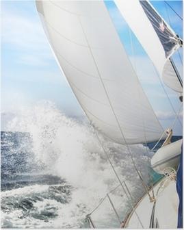 Poster Segelboot im Sturm