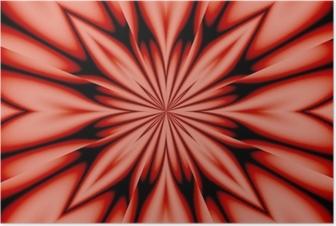 Poster Seidenblume - Rosa