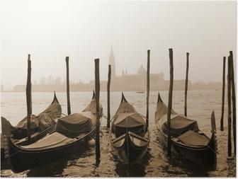 Poster Seppia immagine di Venezia