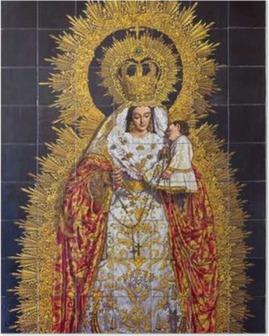 Poster Sevilla - Die Keramikfliesen Madonna