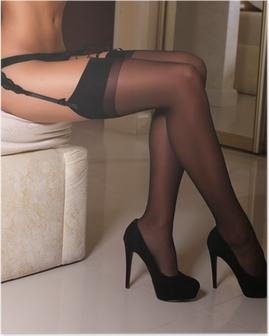Poster Sexy gambe di donna in collant