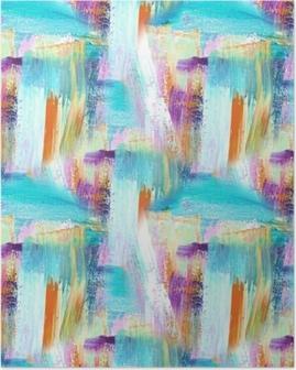 Poster Sfondo di arte astratta. sfondo dipinto a mano. quadro acrilico. modello senza cuciture