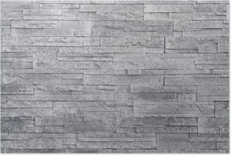 Poster Sfondo grigio muro di pietra. piastrelle di pietra impilati vengono  spesso utilizzati in decorazioni 219b197ea027