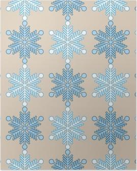 Poster Sfondo trasparente con i fiocchi di neve. Stampare. Ripetendo sfondo. disegno stoffa, carta da parati.