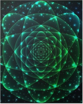 Poster Simbolo geometria sacra. Mandala elemento mistero