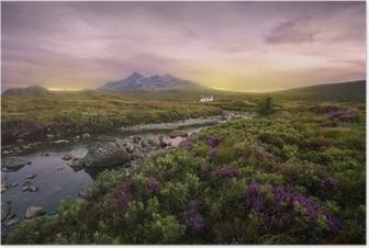 Poster Sligachan Fluss, Schottland