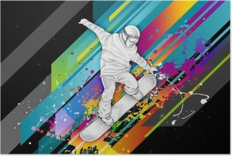 Poster Snowboarder