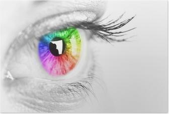 Poster Spazio occhio colorato per il testo.