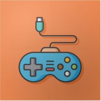 Poster Spiel-Controller-Vektor-Symbol