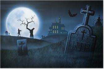 Poster Spooky Halloween Night