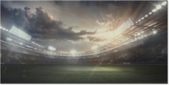 Poster Sport Hintergrund. Fußballstadion. Sportarena