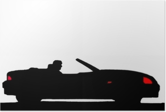 Poster Sportwagen-Silhouette