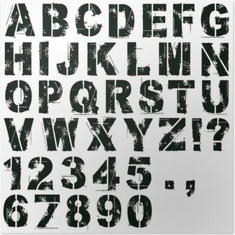 Poster Stencil Lettere e numeri