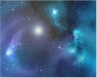 Poster Sternenhimmel Hintergrund der tiefen Weltraum