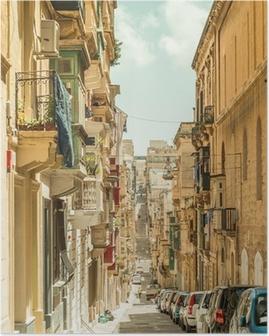 Poster Stradina a Malta
