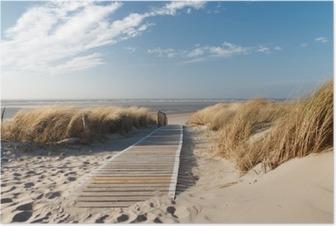 Poster Strand an der Nordsee