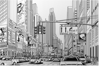 Poster Straße in New York City