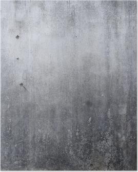 Poster Struttura della parete di cemento, di sfondo cemento grezzo