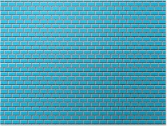 Poster Subway Tile-blu