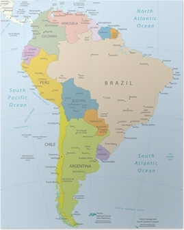 Poster Südamerika-sehr detaillierte map.Layers verwendet.