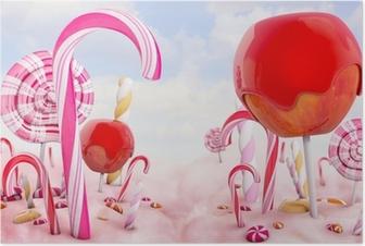 Poster Süßigkeitsland