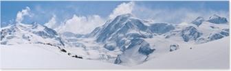 Poster Swiss Alps Mountain Range Paesaggio