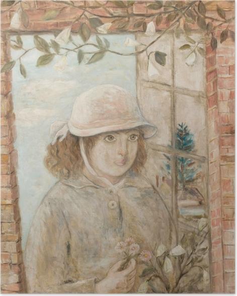 Poster Tadeusz Makowski - Fenster in Blumen - Reproductions