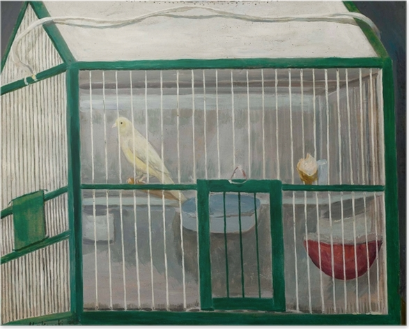 Poster Tadeusz Makowski - Käfig mit Kanarienvogel - Reproductions