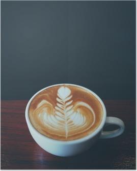 Poster Tazza di caffè latte arte in caffetteria