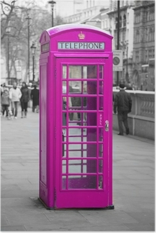 Poster Telefonzelle in London