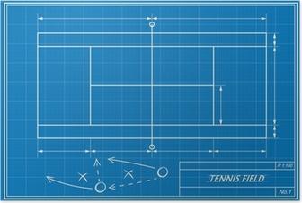 Gerahmtes Poster Volleyball Taktik auf Blaupause • Pixers® - Wir ...