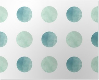 Poster Tessitura acquerello. Seamless pattern. cerchi acquerello in colori pastello su sfondo bianco. Colori pastello e romantico design delicato. Modello Pois. Fresche e menta colori.