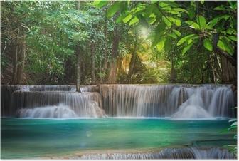 Poster Thailand Wasserfall in Kanchanaburi (Huay Mae Kamin)