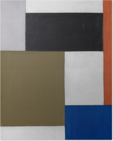 Poster Theo van Doesburg - Komposition 1923-1924 - Reproductions