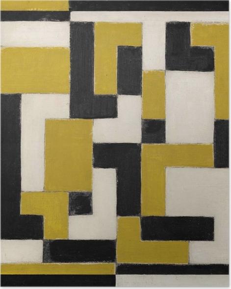 Poster Theo van Doesburg - Komposition von Dissonanzen - Reproductions