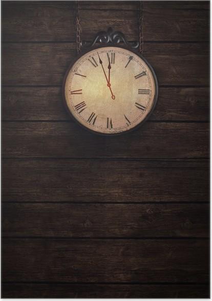 Poster Tickende Uhr