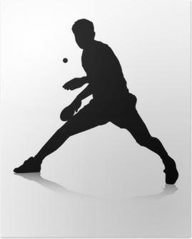 Poster Tischtennisspieler