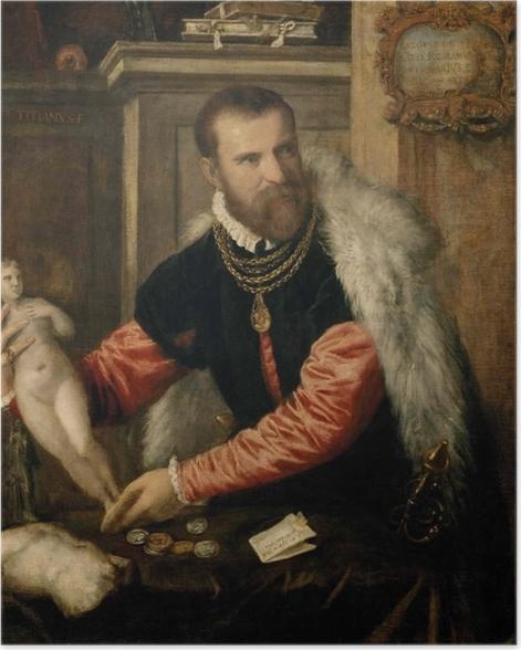Poster Tizian - Bildnis Jacopo de Strada - Reproduktion