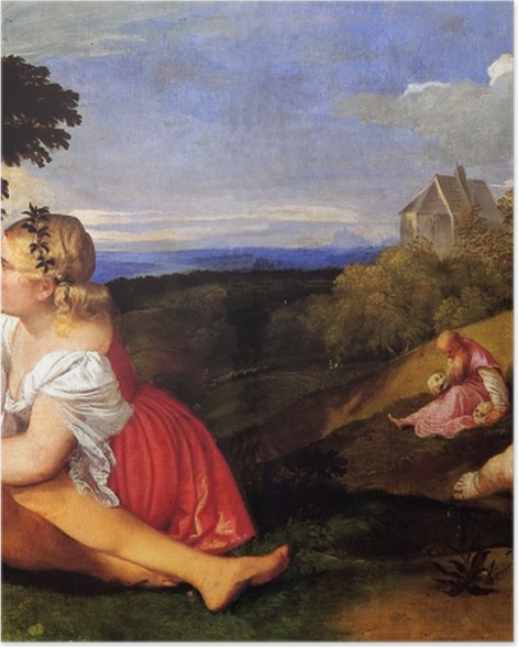 Poster Tizian - Drei Lebensalter - Reproduktion