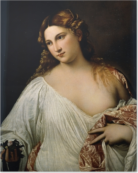 Poster Tizian - Flora - Reproduktion