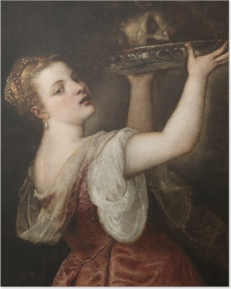 Poster Tizian - Salome mit dem Haupt Johannes des Täufers - Reproduktion