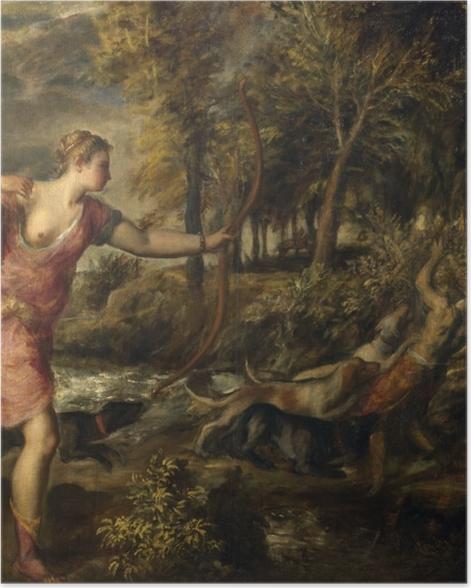 Poster Tizian - Tod des Actaeon - Reproduktion