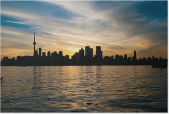 Poster Toronto Skyline der Stadt bei Sonnenuntergang