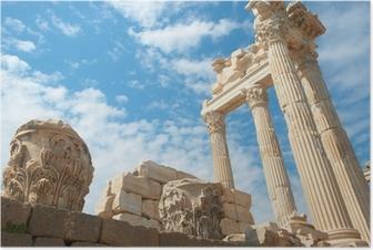 Poster Trajan-Tempel in Pergamon Türkei