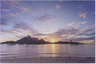 Poster Tramonto su Bora Bora