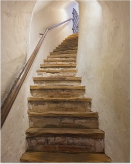 Poster Treppen im Schloss Kufstein - Österreich