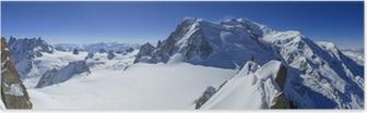 Poster Vallee Blanche Mont Blanc und Aiguille du Midi aus gesehen